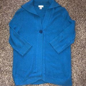 💙💙Women's sweater, one button closure, collar